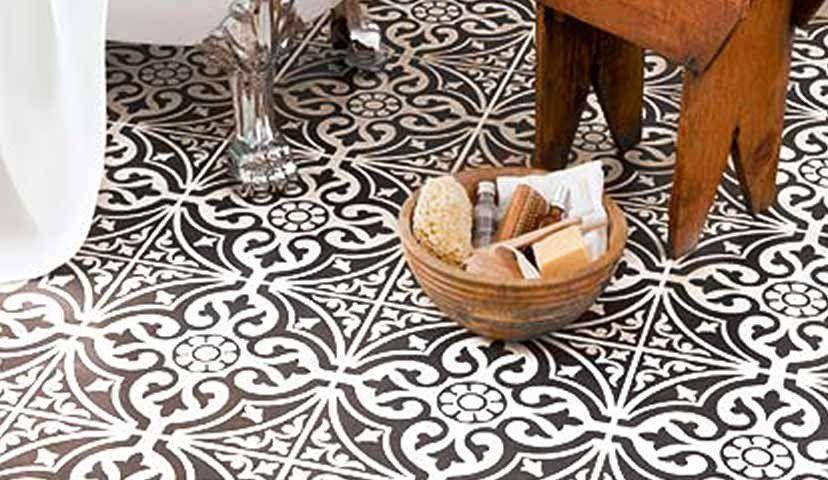 Devon Stone Black Feature Floor Tile 33x33cm In 2019: Pin By Linda Geddes On Hall Floor