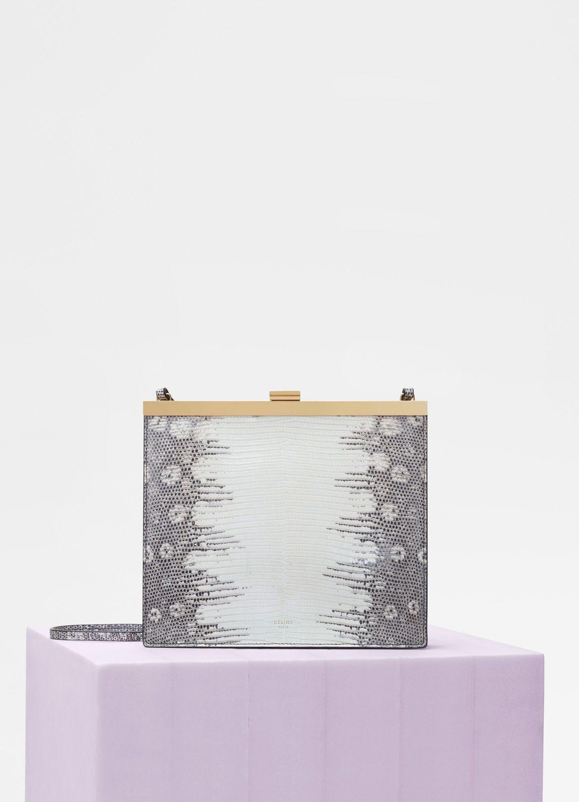 ff87f29a0c47 Mini Clasp bag in lizard | CÉLINE | bag inspriation | Bags, Mini, Summer