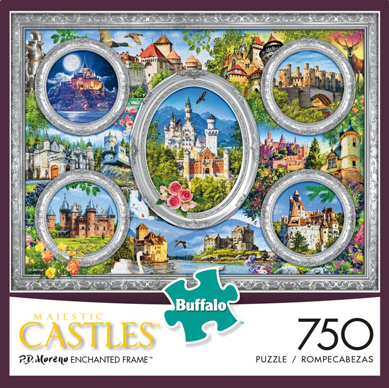 Majestic Castles Enchanted Frame 750 Piece Jigsaw Puzzle In 2020 Christmas Jigsaw Puzzles Larger Piece Jigsaw Puzzles Jigsaw Puzzles