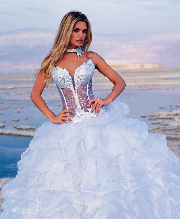 Strapless corset wedding dress with matching choker. Corset bodice ...