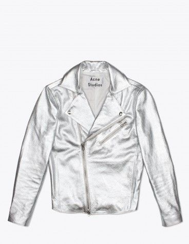 Gibson Silver Leather Jacket from Acne Studios   Fashion   Jackets ... 8b6de85380a