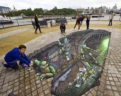 3D Ninja Turtle Art Work!