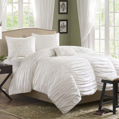 White bedding Bedroom ideas Pinterest White bedding, Comforter