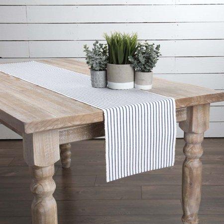 Cobalt Blue Farmhouse Tabletop Kitchen Audrey Cotton Striped