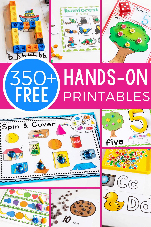 350 Free Printables And Activities Homeschool Preschool Activities Free Preschool Printables Free Preschool Activities [ 1500 x 1000 Pixel ]