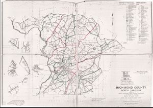 Richmond County Nc Map.Richmond County Nc Census Enumeration Map 1960 From Nc Digital