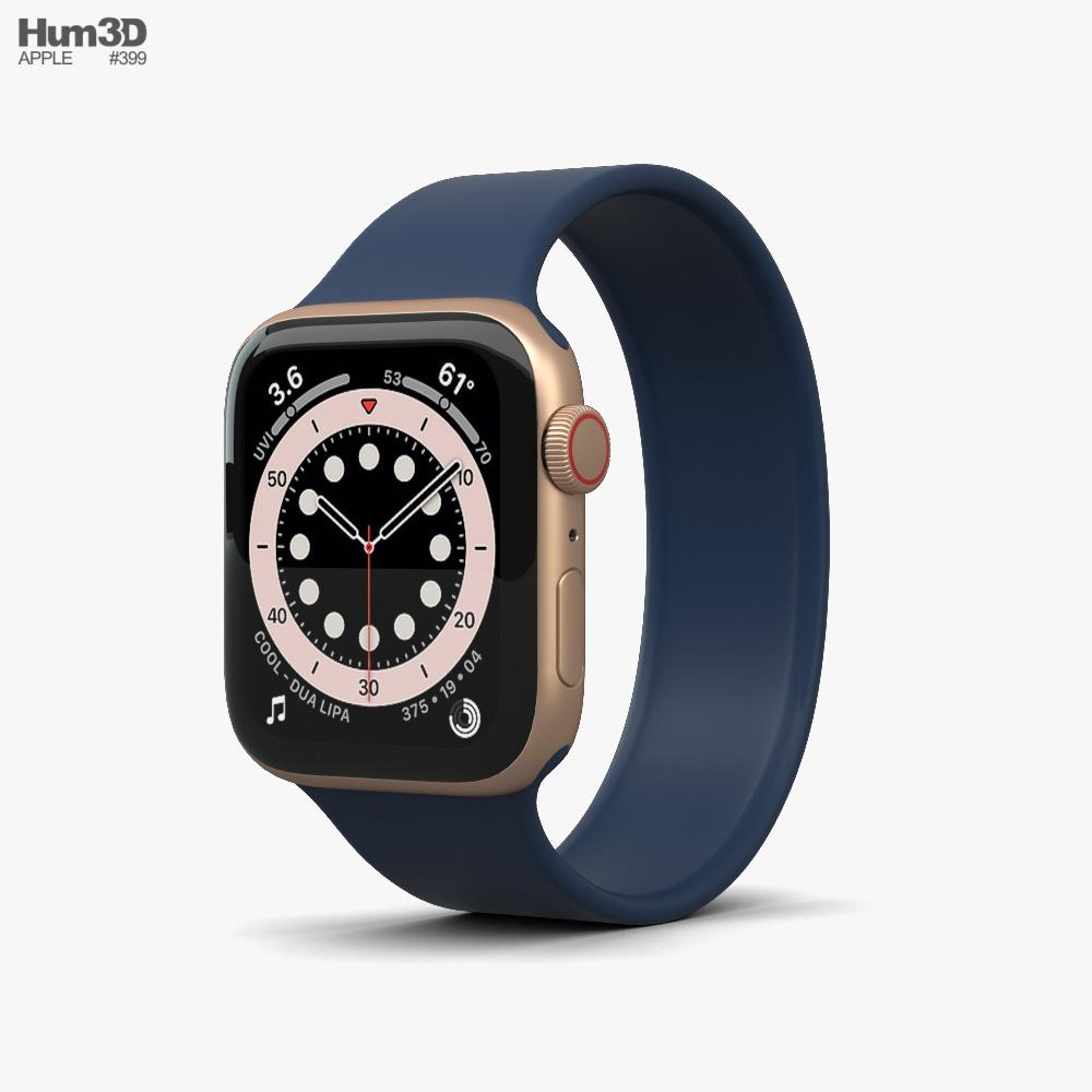 3d Model Of Apple Watch Series 6 44mm Aluminum Gold Apple Watch Series Apple Watch 3d Model