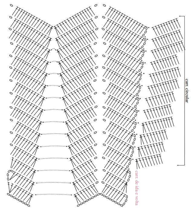 Patrones falda crochet - Imagui | Ажур крючком | Pinterest | Patrón ...