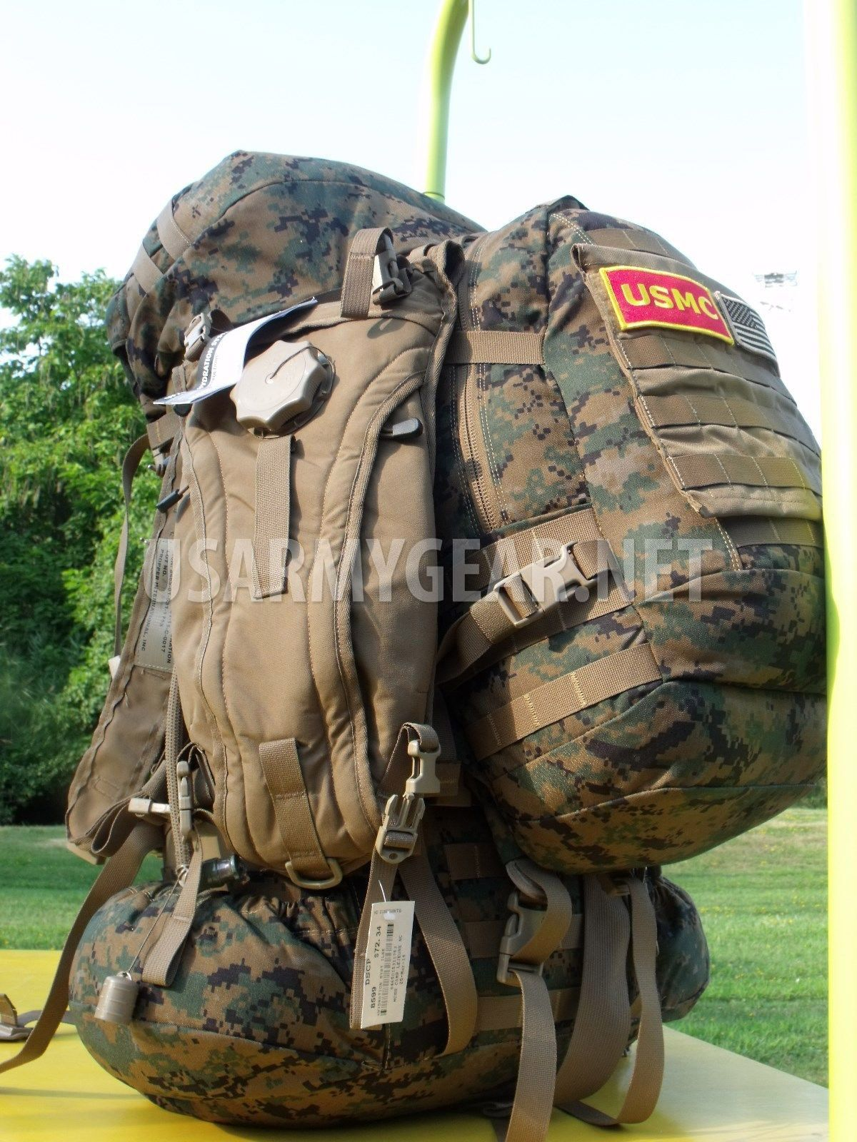 dfb63caaee79 USMC GEN 2 Complete ILBE Back Pack RuckSack System Set + Assault Pack | US  Army Gear