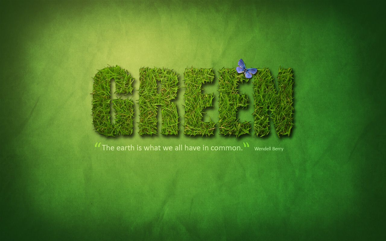 A Dearybury Of A Day: Go Green