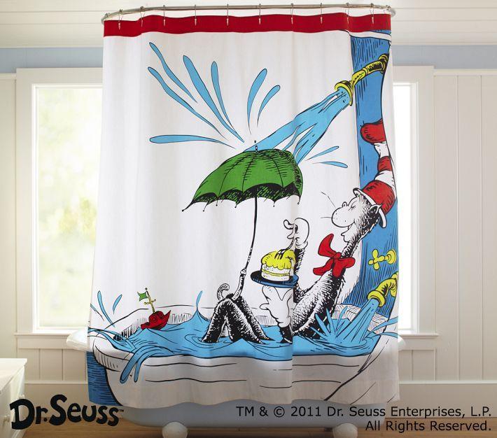 Dr. Seuss Shower Curtain | Boys\' Bathroom Ideas | Pinterest | Apartments
