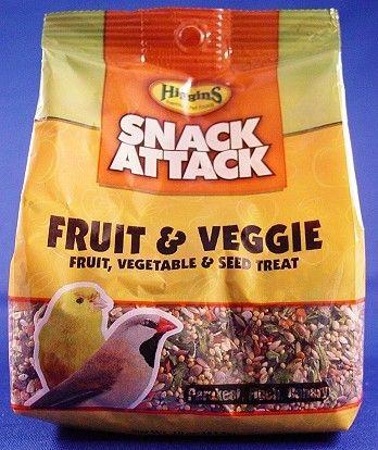 Higgins Snack Attack Treat Food for Birds - Small Fruits & Veggie 10 oz