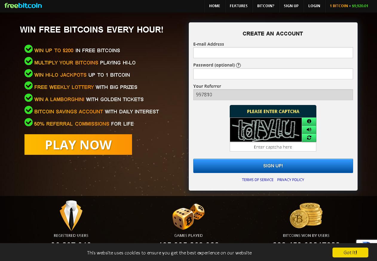 cara daftar akun bitcoin