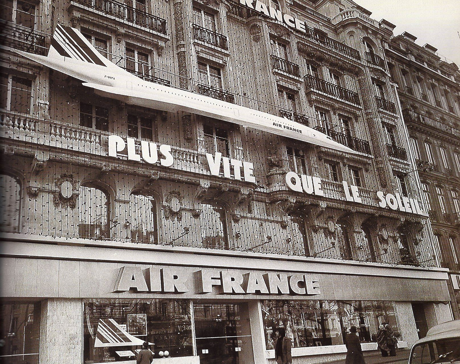 Air France Concorde Advertising Champs Elysees Ticket Office Air France Avenue Des Champs Elysees Paris