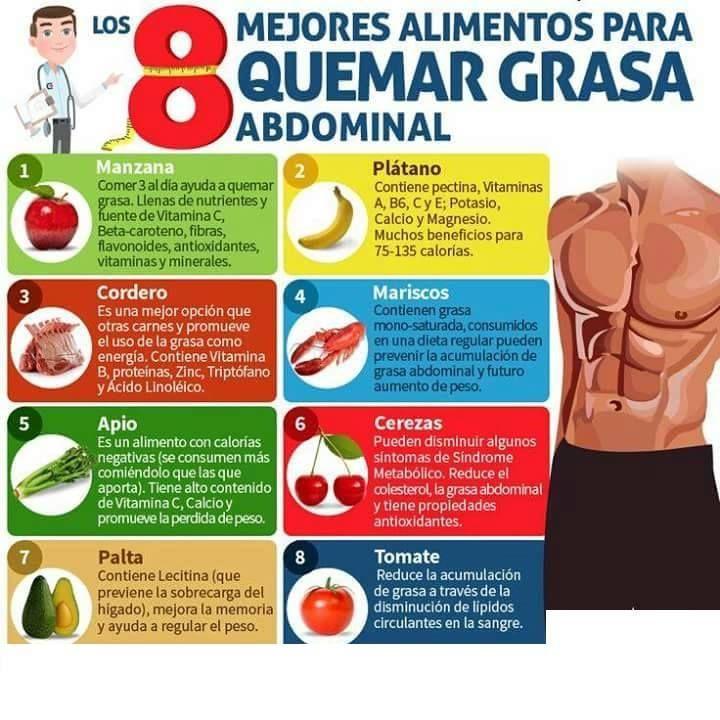 alimentos y ejercicios para bajar la panza