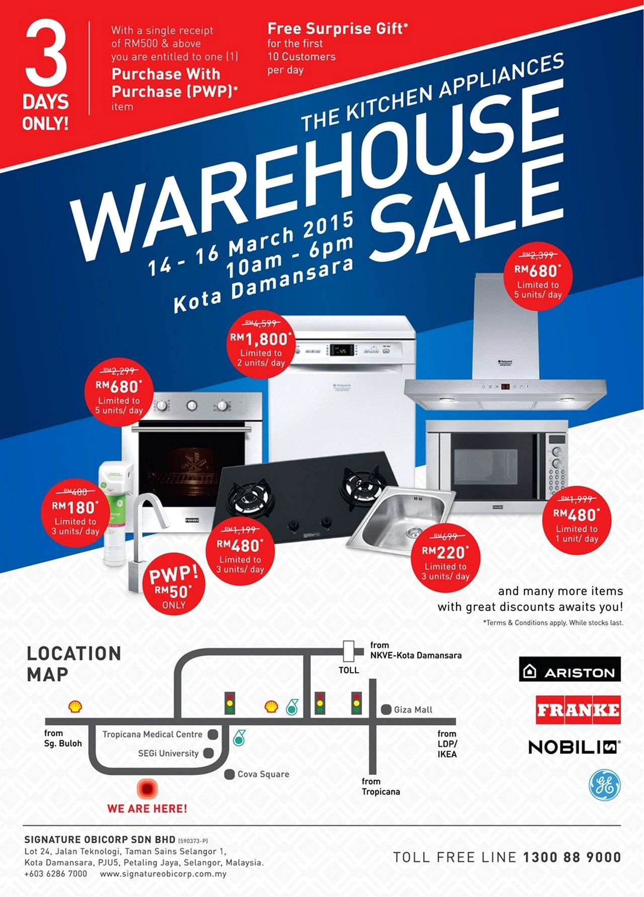 14 16 Mar 2015: Signature Kitchen Warehouse Sale For Kitchen Appliances U0026  Accessories Clearance