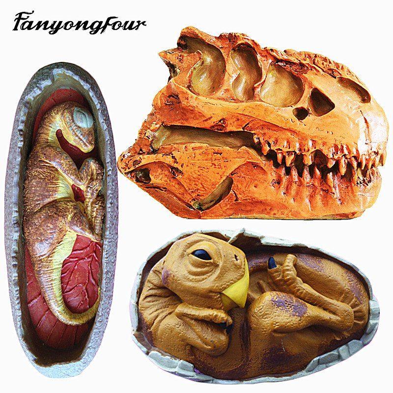 Günstige Kleine Dinosaurier Silikonform Kuchen Form