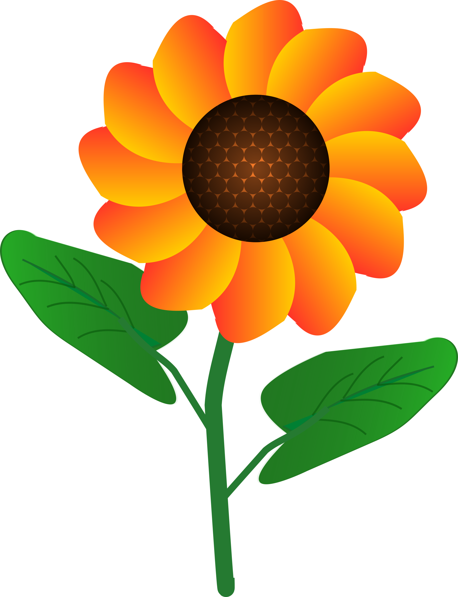 Flower by @tadmac, a simple cartoon flower, on @openclipart