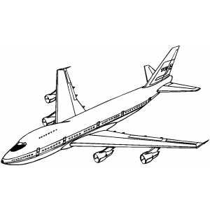 Boeing 747  free printable coloring pages  Pinterest  Boeing
