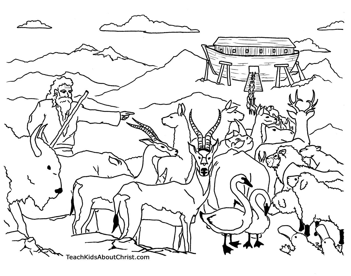 Noah Ark Coloring Pages Printable