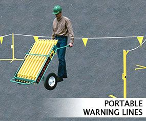 Portable Mobile And Permanent Roof Warning Line Systems Portable System Roof