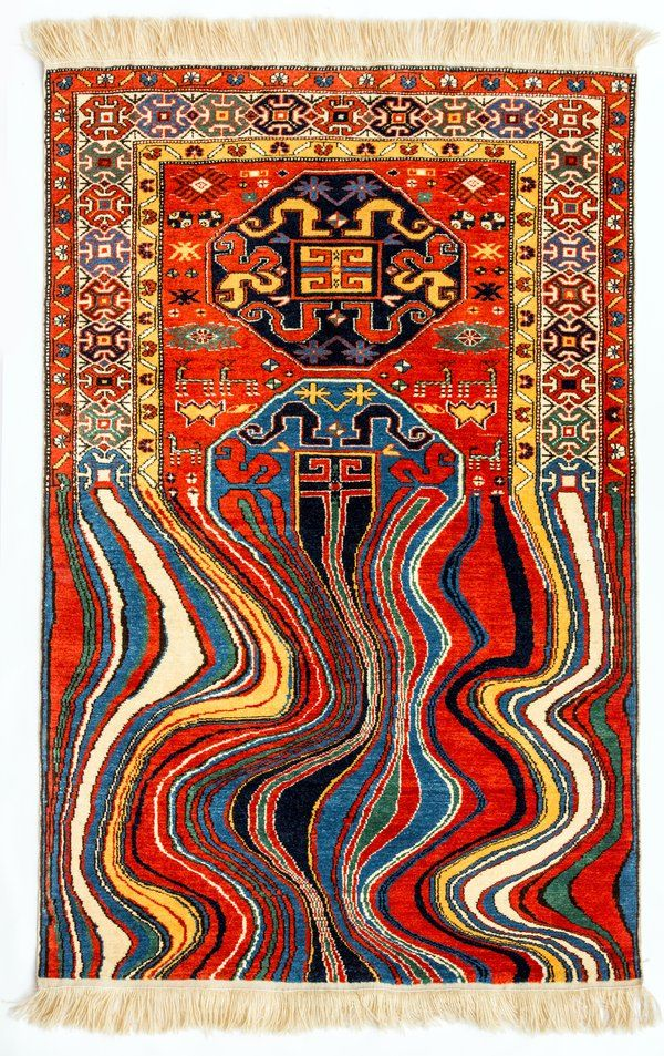 This Artist Makes Traditional Carpets That Look Like They Were Hit By A Software Bug Embroidered Art Traditional Carpet Pattern Contemporary Rugs