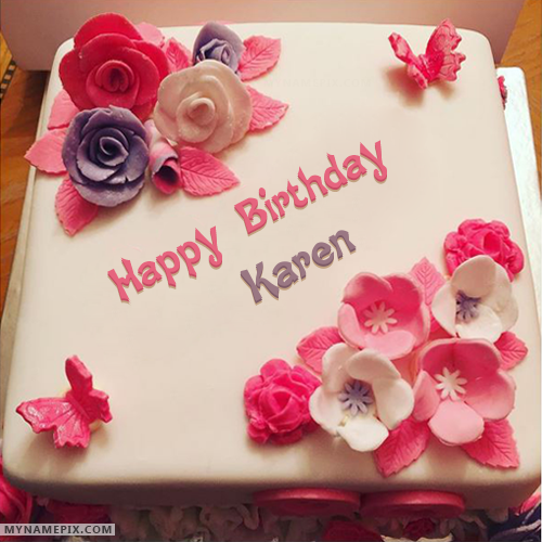 Names Picture Of Karen Is Loading Please Wait Birthday Cake