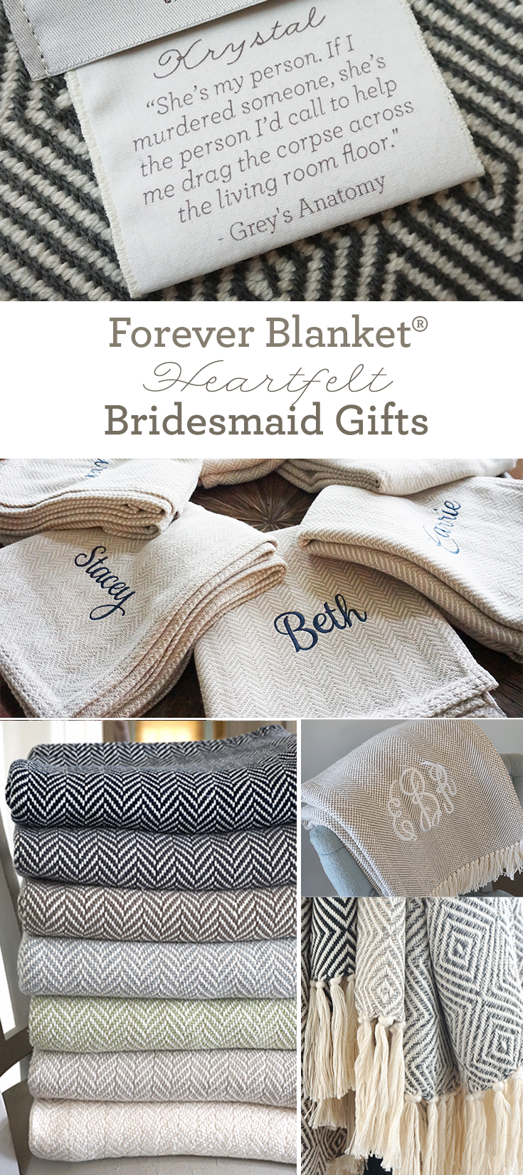Amazingly sentimental bridesmaid gifts from Swell Forever. Forever ...