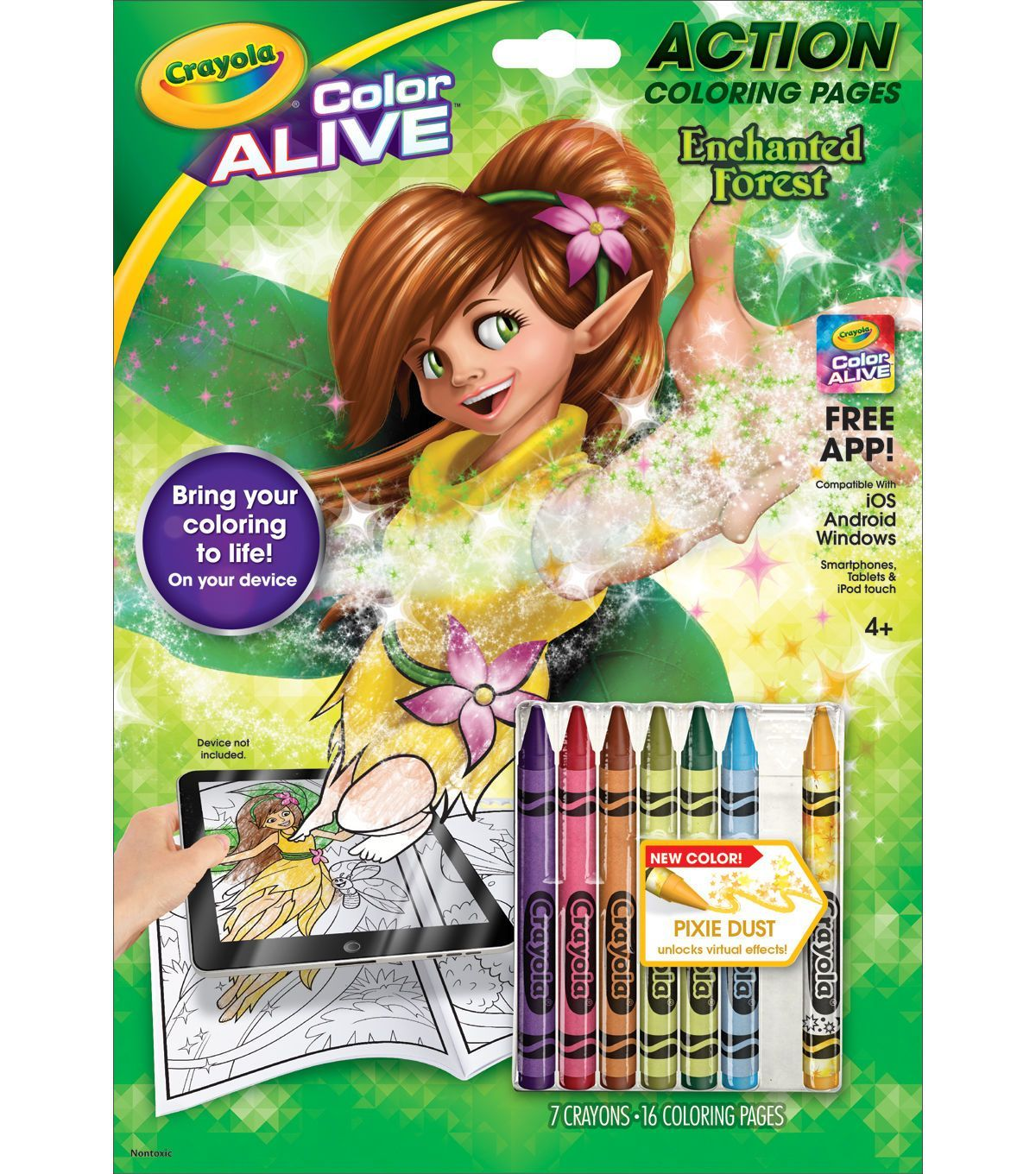 Crayola Color Alive Action Coloring Pages - Enchanted Forest | Products