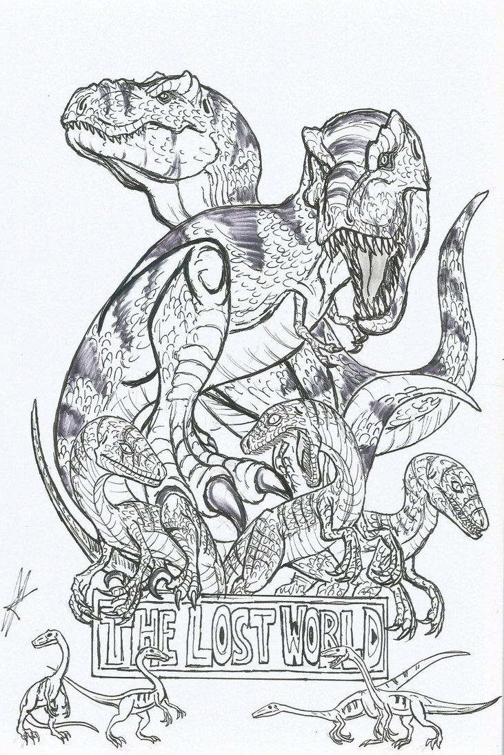 velociraptor jurassic park coloring pages - photo#13
