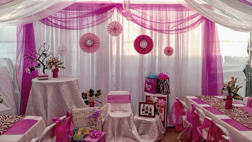 Camouflage girl decorations for baby shower 19 photos of for Baby shower ceiling decoration ideas