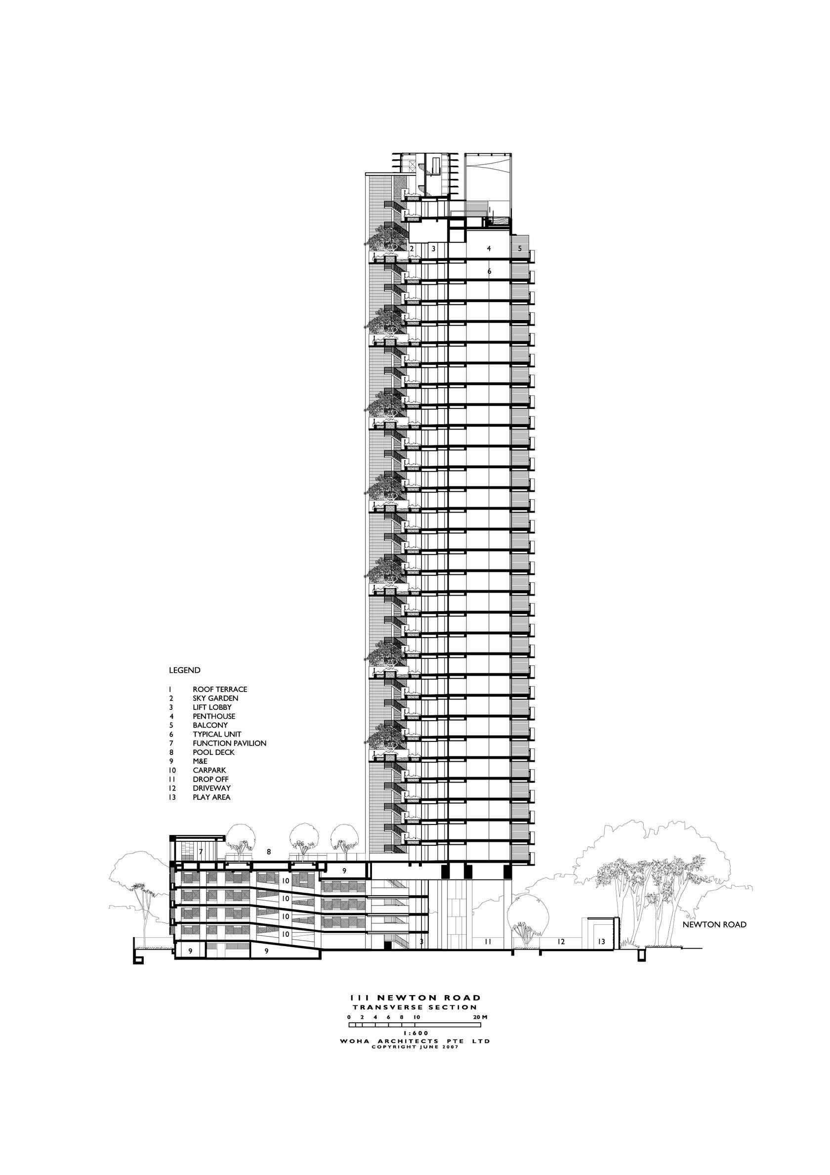 Newton Suites Singapore Woha Section