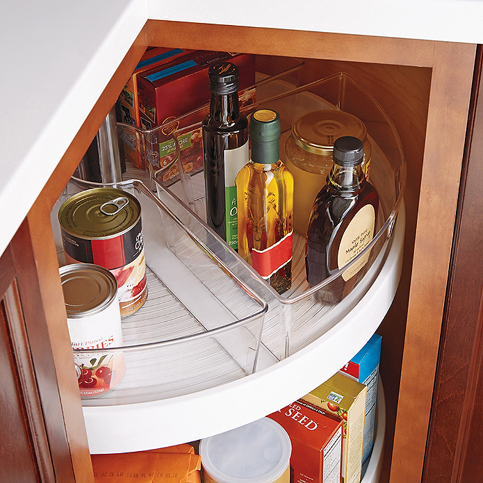 Kitchen Cabinet Organization Ideas: InterDesign® Cabinet Binz™ Lazy Susan Quarter Wedge