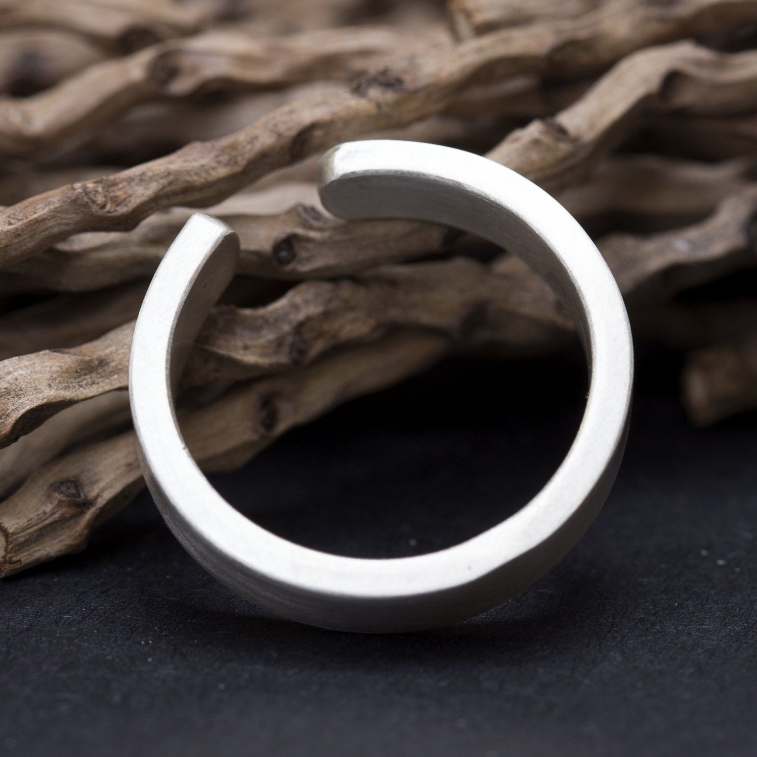 A Thick Sterling Silver Open Ring For Men Or Women Handmade By