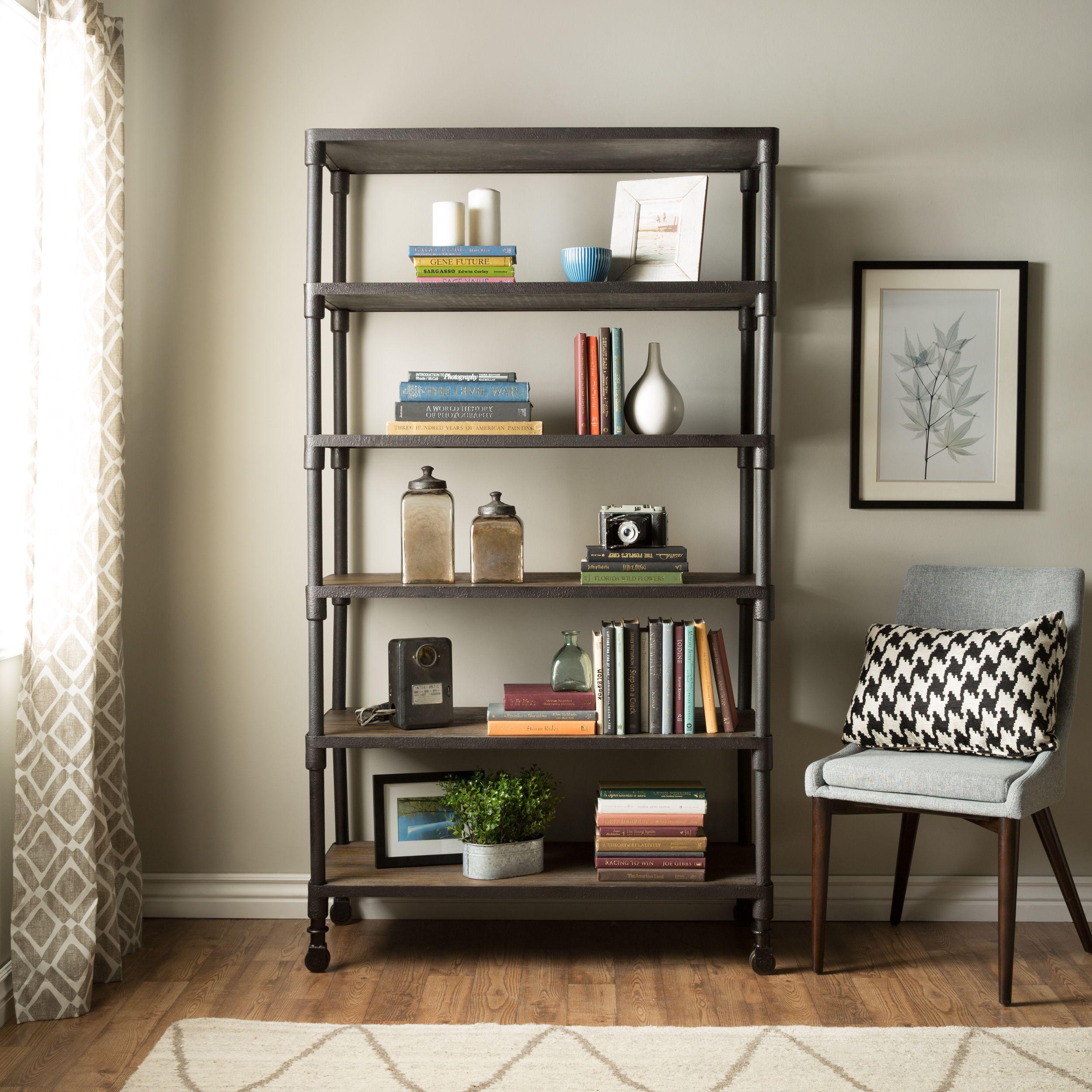 tier bookcase basic ebay wood dark bookcases brown iris p s storage shelf