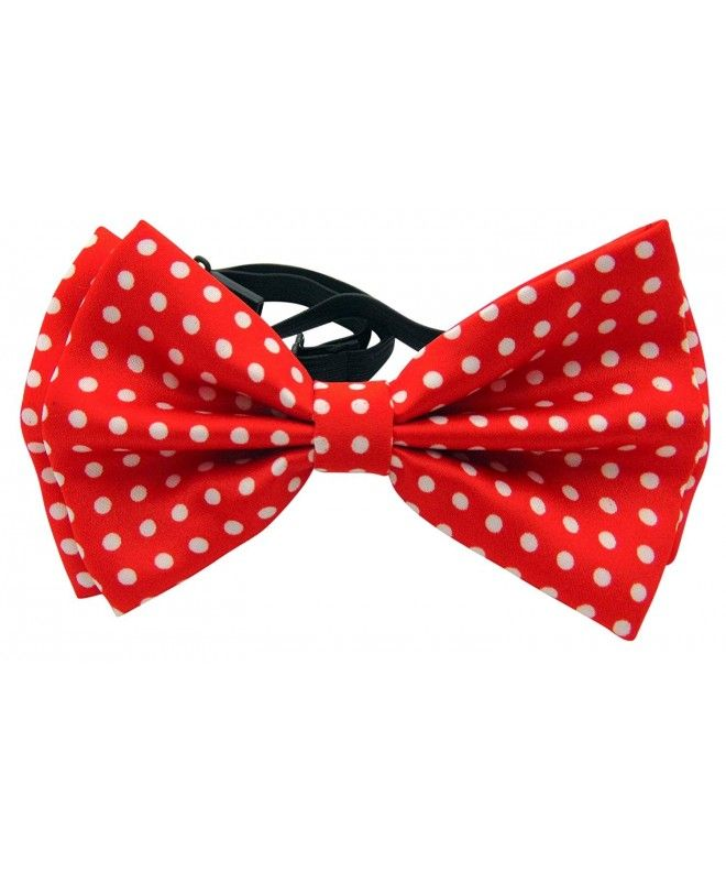 Various Colors 5 Two-Colour Polka Dots Woven Microfiber Pre-tied Bow Tie
