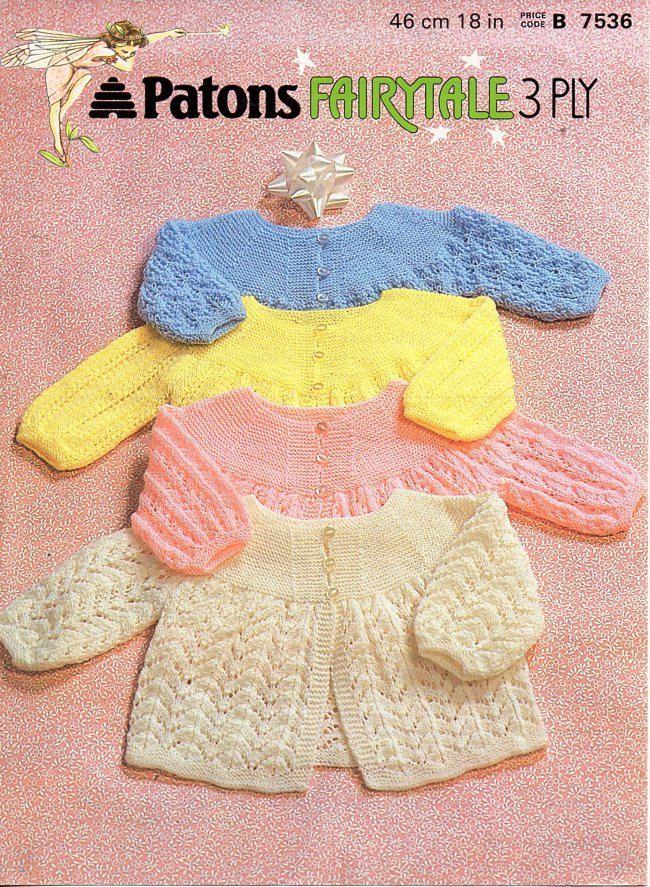 Baby Matinee Coats Knitting Pattern Pdf Download Matinee Jackets