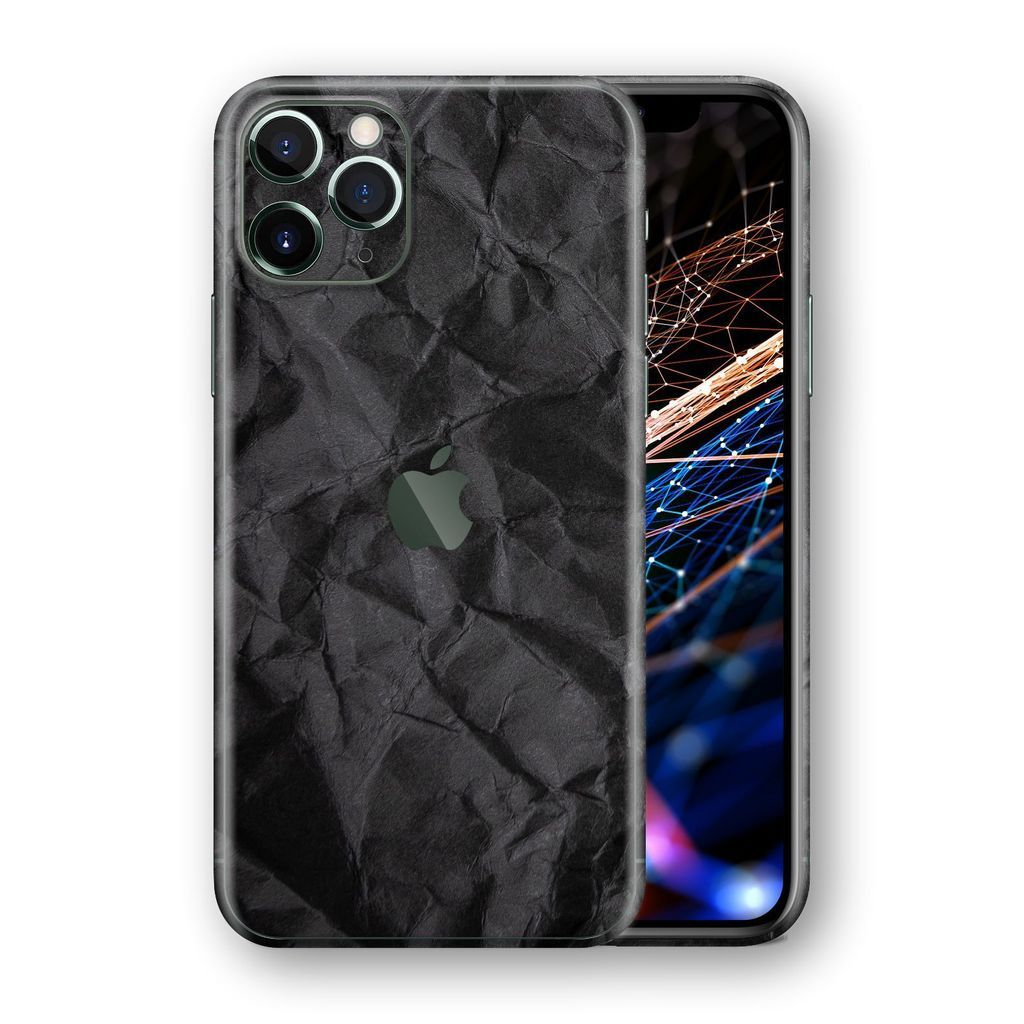iPhone 11 Pro MAX SIGNATURE Black CRUMPLED Paper Skin
