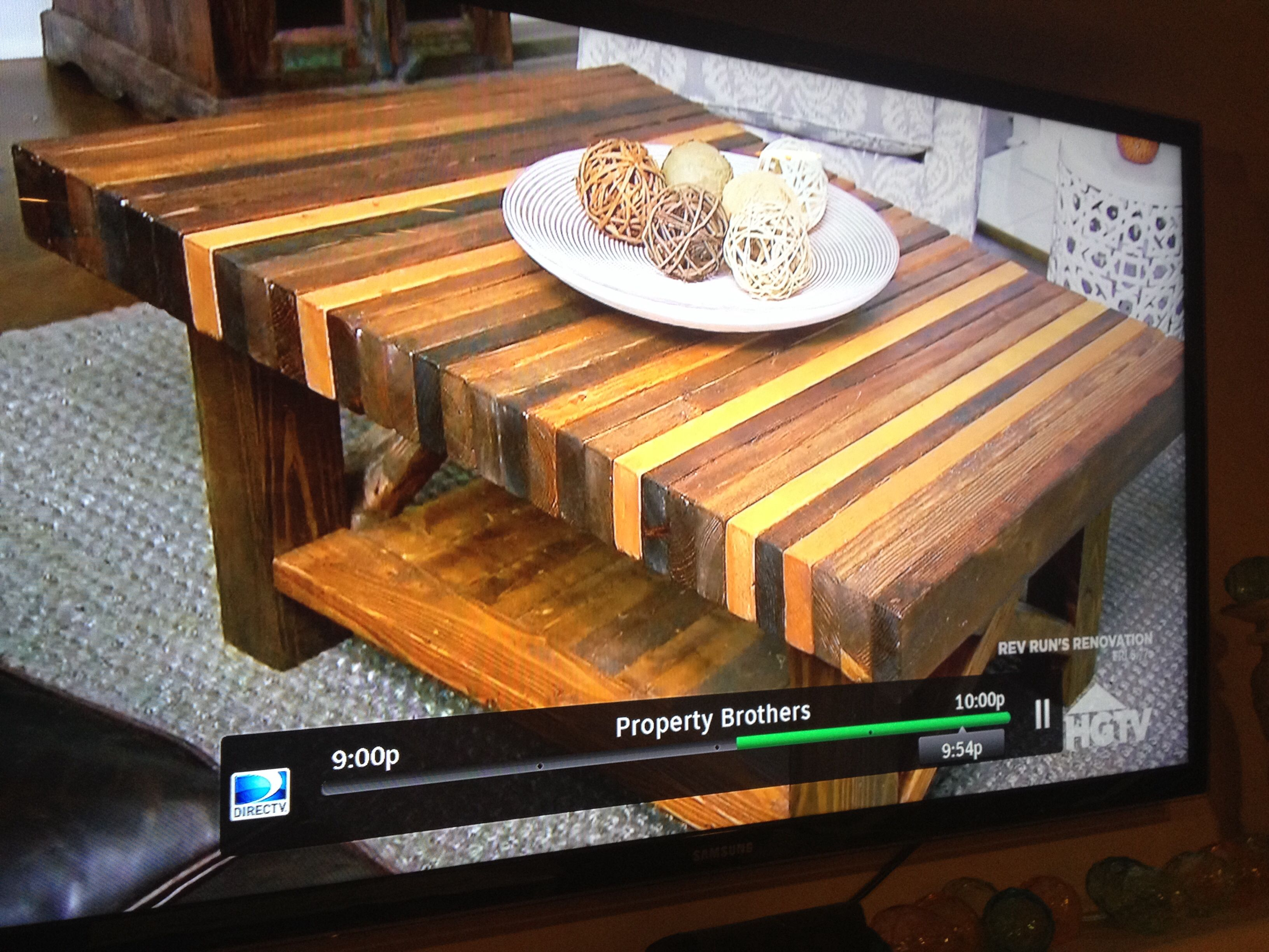 2x4 coffee table as seen on property brothers on hgtv