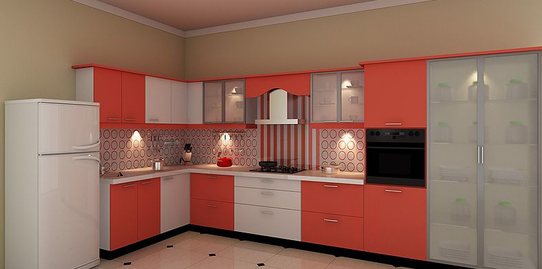 Ishaped Modular Kitchen Design  Designerdesign Indian Enchanting Cupboard Designs For Kitchen In India Design Ideas