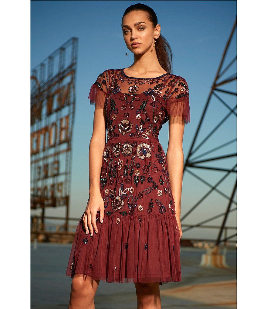 449a090cb9c Shop for Gianni Bini Wendy Short Sleeve Floral Sequin Dress at  Dillards.com. Visit Dillards.com to find clothing