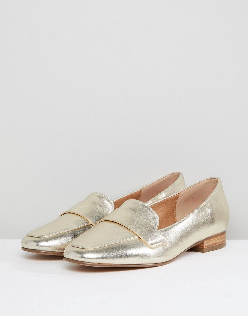 a285816dea58 ASOS MILESTONE Flat Shoes - Gold