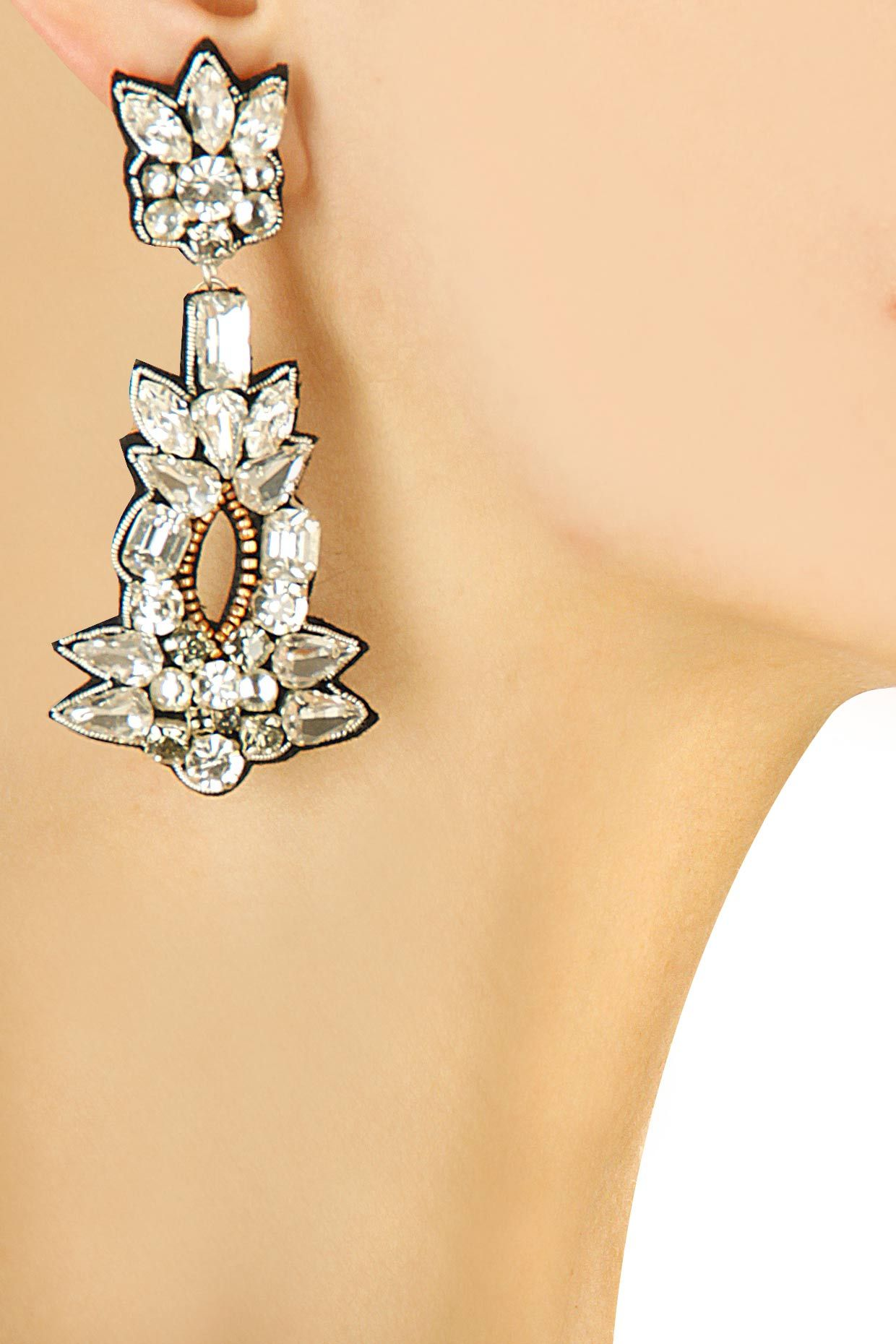 Jane earrings by Preeti Mcconkey. Shop now: http://www.perniaspopupshop.com/designers/preeti-mcconkey #earrings #preetimcconkey #shopnow #perniaspopupshop