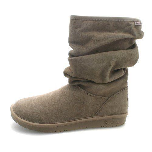 0d9484f0e12 Skechers Australia fur lining Suede Slouched Snow Boot memory foam ...
