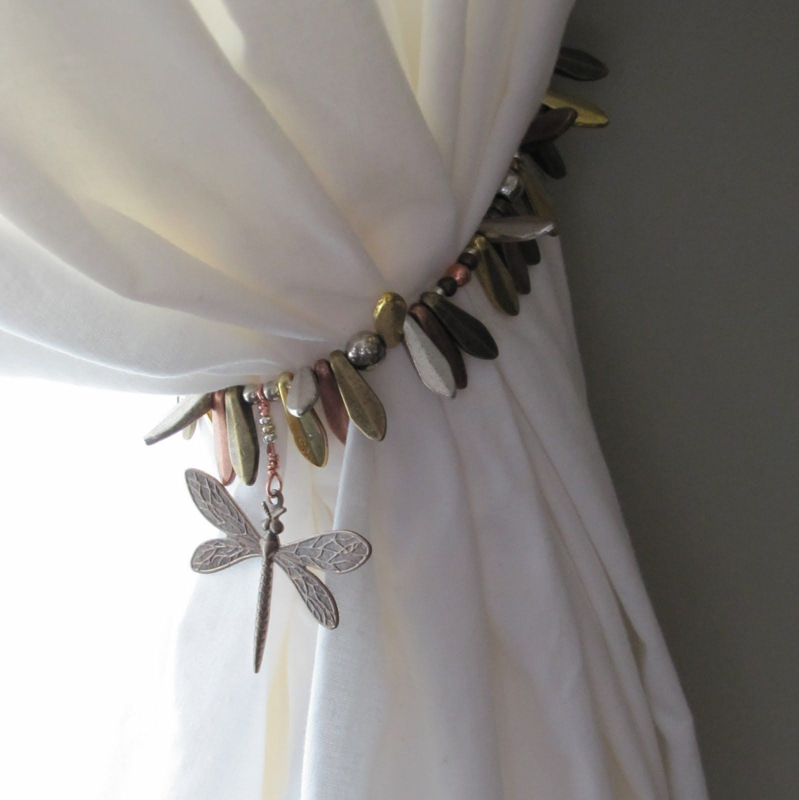 Dragonfly Curtain Tie Back Could Use Butterfly Or Anything Else