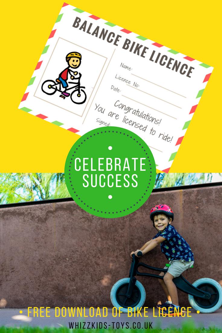 Celebrate Success With A Balance Bike Licence Balance Bike