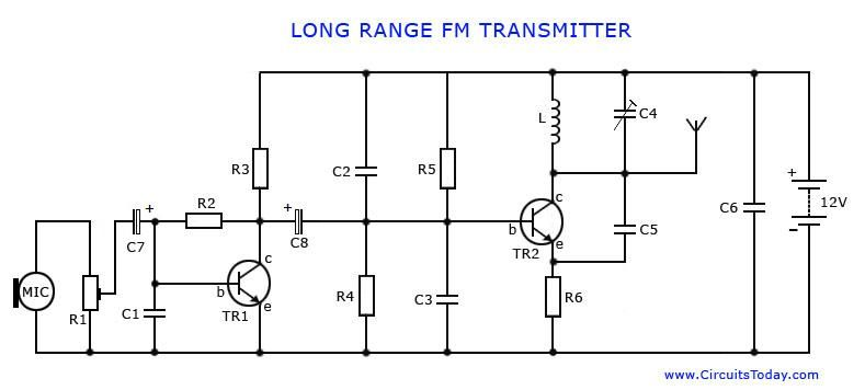 pin by aman bharti on long range fm transmitter circuit diagram rh pinterest com stereo fm transmitter circuit schematic FM Transmitter Components