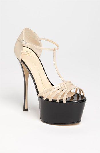 23d01306b975 Giuseppe Zanotti Nude Sandal on a Bold Platform Patent Leather  Shoes  High   Heels