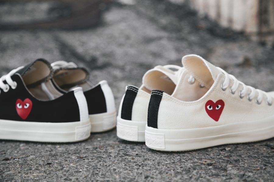 Comme Des Garcons Play X Converse Chuck Taylor All Star Low Sneakernews Com Sneakers Shoe Boots Prom Shoes