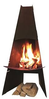 Image Result For Metal Outdoor Fireplace With Chimney